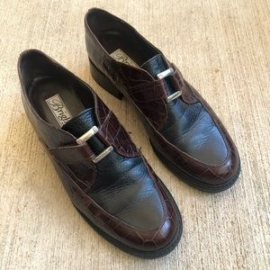 Brighton Kannah Italian Leather Buckle Loafers 7.5